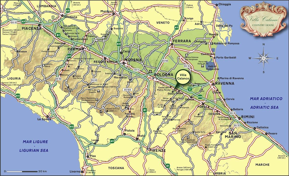 Cartina Italia Cesena